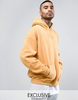 Reclaimed Vintage Inspired Oversized Hoodie In Yellow Overdye
