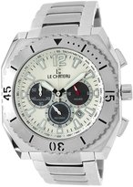 Le Château Men's 5404M_WHTandBLK Sports Dinamica Collection with Chrono and Military-Time Watch