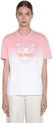 Kenzo Tiger Embroidered Degrade Jersey T-shirt