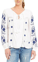 KUT from the Kloth Clemence Embroidered Praire Top