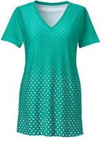 Classic Women's Plus Size Supima Cotton V-neck Tunic Top-Ecru