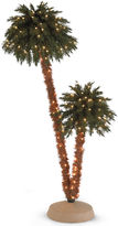 JCP 6' Pre-Lit Doubled Headed Palm Christmas Tree
