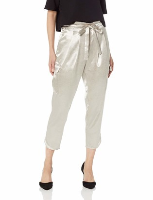 Ramy Brook Women's Pocket Allyn Gold Cargo Pant Large
