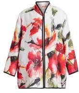 Caroline Rose Poppy Bouquet Floral-Print Jacket