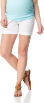 Motherhood Secret Fit Belly Poplin Cargo Maternity Shorts