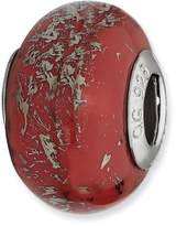 Reflections Sterling Silver Red with Platinum Foil Ceramic Bead