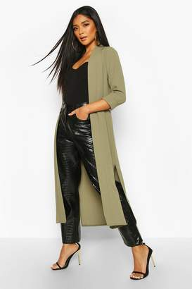 boohoo Collarless Duster