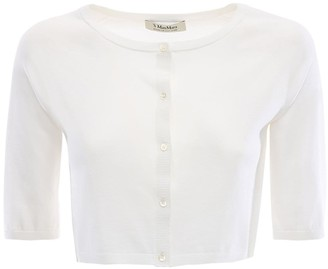 Max Mara 'S Cotton Knit Cardigan W/ Short Sleeves