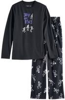 "Jammies For Your Families Boys 4-20 Jammies For Your Families ""Shake Your Bones"" Skeleton Top & Fleece Bottoms Pajama Set"