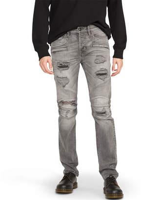 Hudson Men's Blinder Biker Distressed Moto Jeans