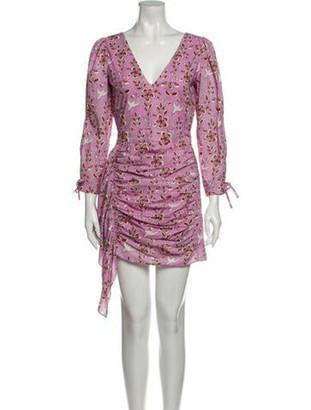 Rhode Resort Printed Mini Dress w/ Tags Pink Printed Mini Dress w/ Tags