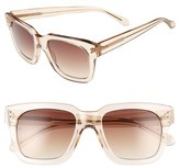 Linda Farrow Women's 52Mm Retro Sunglasses - Ash/ Rose Gold/ Brown Grad