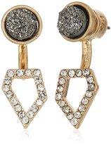 "Kenneth Cole New York Women's ""Ice Caves Delicates"" Delicate Metallic Druzy & Geometric Earrings Jacket"