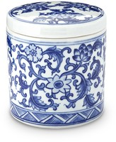 Blue & White Ceramic Canister, Extra Small