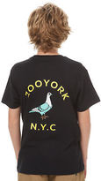 Zoo York New Boys Kids Boys Gutter Tee Crew Neck Short Sleeve Cotton Black