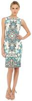 Versace Light Blue All Over Patterened Dress