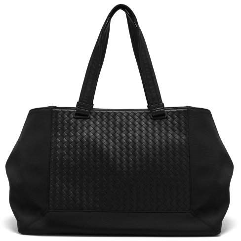 Bottega Veneta Intrecciato Leather Tote Bag - Mens - Black