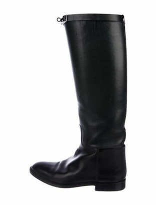 Hermes Jumping Knee-High Boots Black