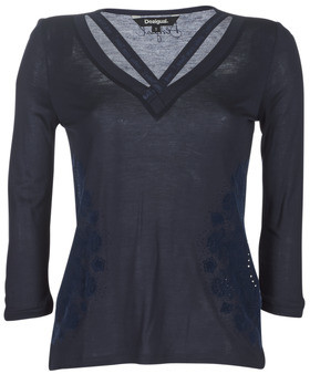 Desigual LORREN women's Long Sleeve T-shirt in Blue