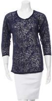 Etoile Isabel Marant Three-Quarter Sleeve Mélange Top