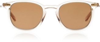 clear Mr. Leight Coopers S 46 Acetate Round-Frame Sunglasses