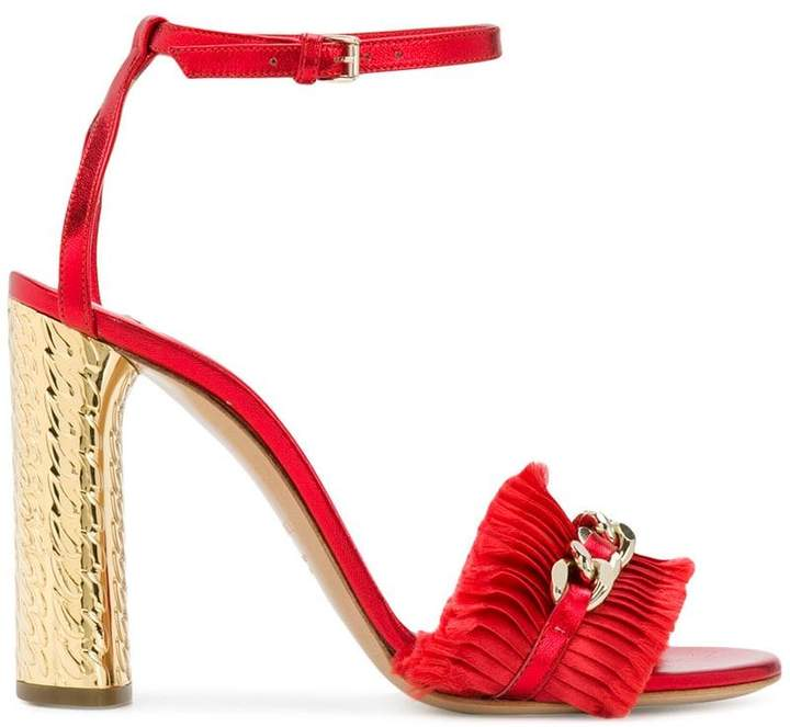 Casadei chain detail sandals