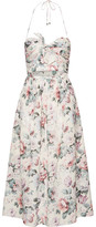 Zimmermann Jasper Printed Cotton-voile Halterneck Midi Dress - Pastel pink