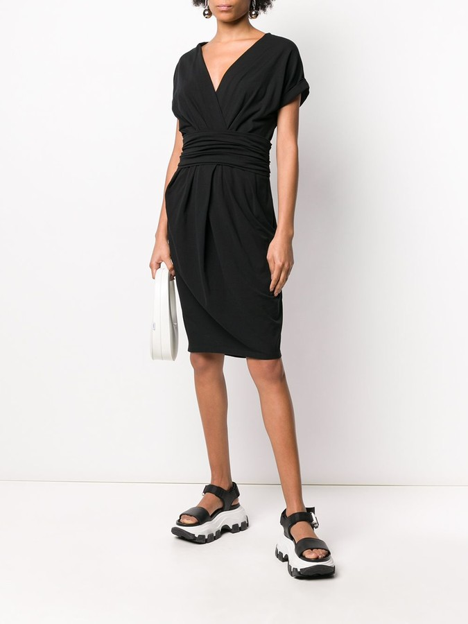 Thumbnail for your product : Prada Pre-Owned 1990s Gathered Knee-Length Dress