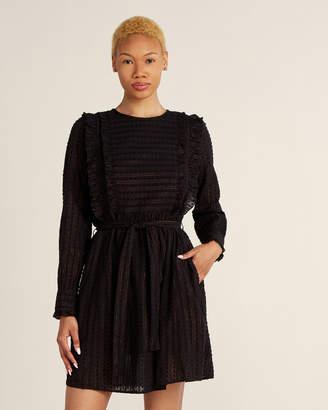 Scotch & Soda Metallic Stripe Self-Tie Fit & Flare Dress