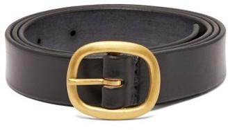Maximum Henry - Slim Leather Belt - Mens - Black
