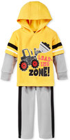Nannette Baby Boys' 2-Pc. Layered-Look Load The Zone Hoodie & Pants Set