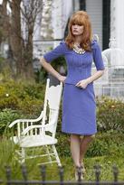Shabby Apple Chartre Street Straight Skirt Blue