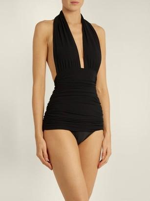 Norma Kamali Bill Halterneck Swimsuit - Black