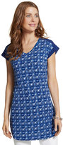 Chico's Hope Geometric Blue Top