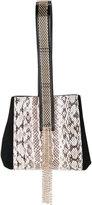 Lanvin embellished python wristlet bag