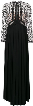 Self-Portrait Cutout Guipure Maxi Dress