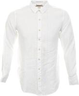 Replay Long Sleeve Flax Shirt White