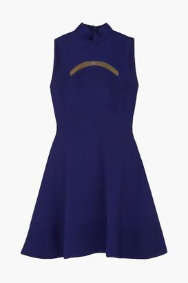 Antonio Berardi Mesh-trimmed Paneled Cady Dress