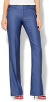 New York & Co. 7th Avenue Design Studio - Bootcut Pant - Signature - Universal Fit - Blue - Petite