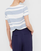 BYRNA Twotone striped cropped top