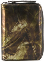Maison Margiela printed zip around wallet - men - Leather - One Size