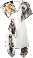 Christopher Kane hanging patch dress - women - Silk/Acetate/Viscose - 42