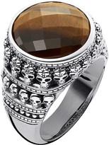 Thomas Sabo Rebel at Heart tiger's eye sterling silver ring
