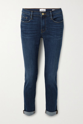 Frame Le Garcon Cropped Slim Boyfriend Jeans - Mid denim