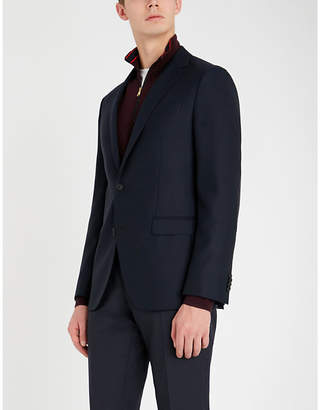 BOSS Textured regular-fit wool blazer