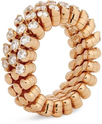 Serafino Consoli Multi-Metal and Diamond Brevetto Narrow Ring