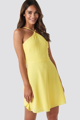 Trendyol Strap Detailed Mini Dress Yellow