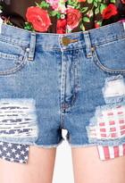 Forever 21 Americana Denim Cut Offs