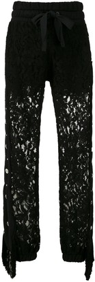 Andrea Bogosian Romes AB lace-pattern track trousers