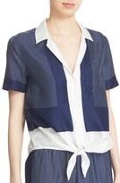 Equipment Women's 'Keira' Short Sleeve Tie Front Top